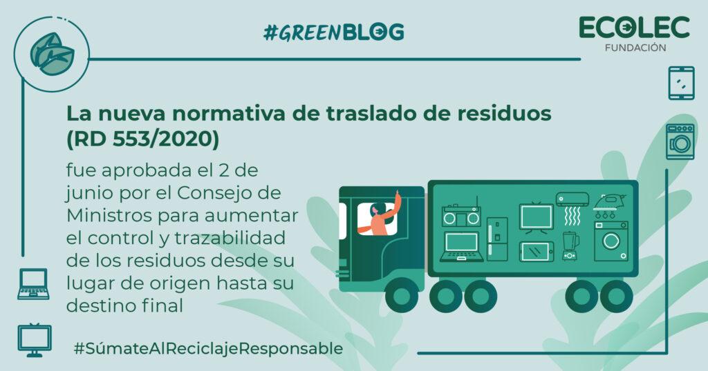 Aprobada la nueva normativa de traslado de residuos (RD 553/2020).