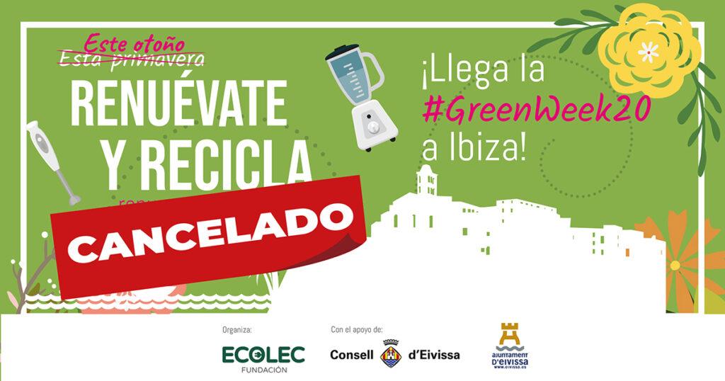 Cancelación del acto de presentación #GreenWeek20 en Ibiza