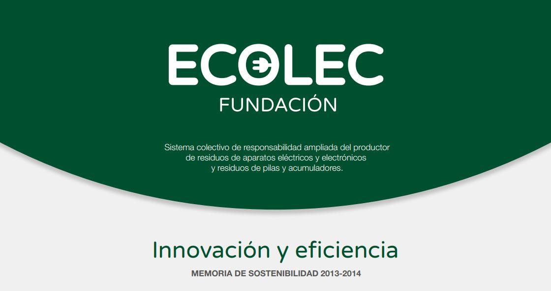memoria de sostenibilidad ecolec 2013-2014