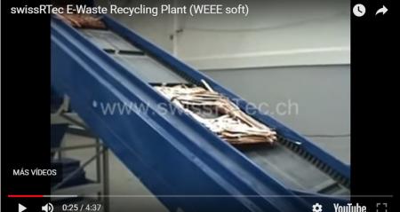 Planta de reciclaje de aparatos eléctricos y electrónicos en Suiza