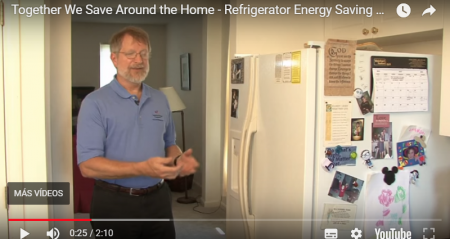 Consejos sobre ahorro y uso responsable de energía – Together we save around the home. Refrigerator energy saving tips
