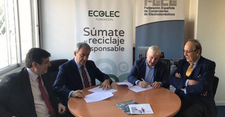 Fundación Ecolec y FECE ratifican su convenio de colaboración para los dos próximos años
