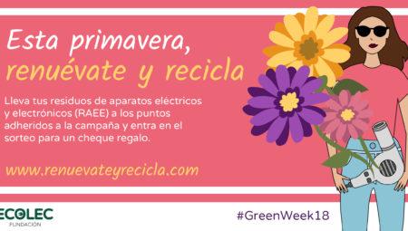 Fundación Ecolec celebra la segunda edición de la #GREENWEEK18 para concienciar sobre RAEE