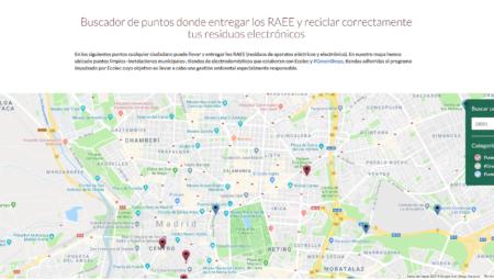 Ecolec lanza el primer buscador online de puntos de entrega de residuos eléctricos y electrónicos
