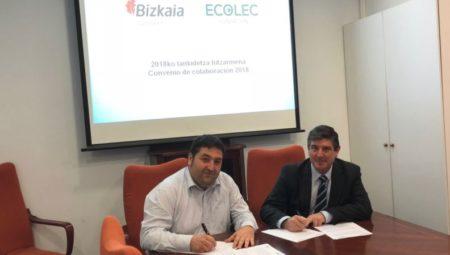Garbiker y Ecolec renuevan el convenio de colaboración en la correcta gestión de los RAEE
