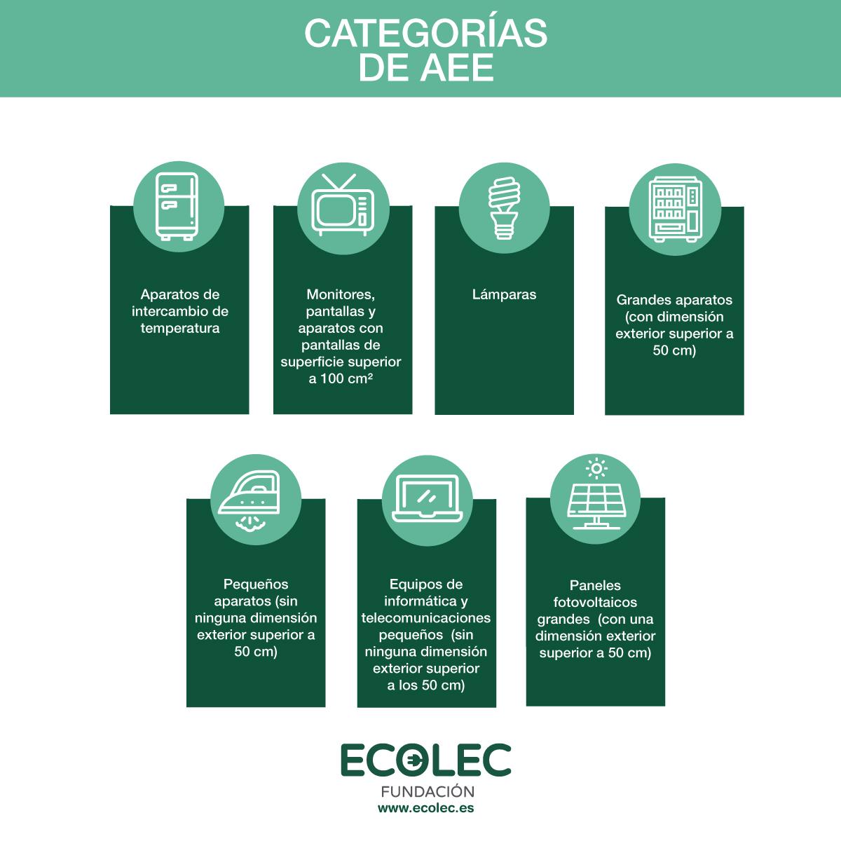 Infografía Categorías AEE a partir del 15 de agosto de 2018
