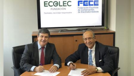 ECOLEC y FECE firman protocolo para gestión del RAEE procedente de venta online