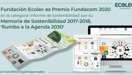 La Fundación ECOLEC logra el Premio FUNDACOM 2020 por su Memoria de Sostenibilidad