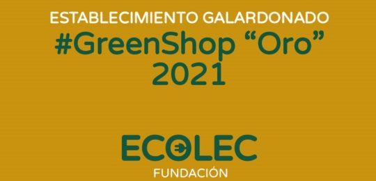 Ecolec reconoce el compromiso de 75 establecimientos #GreenShop de toda España con los distintivos Oro y Plata