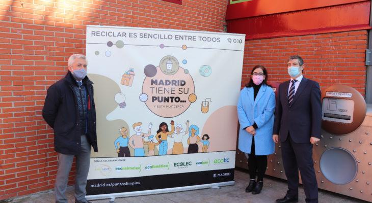 Ecolec, junto al Ayuntamiento de Madrid, presenta 'Madrid tiene su punto' para informar a la ciudadanía sobre la importancia de usar los Puntos Limpios Municipales